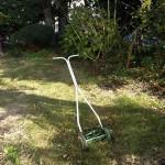 庭の芝刈り