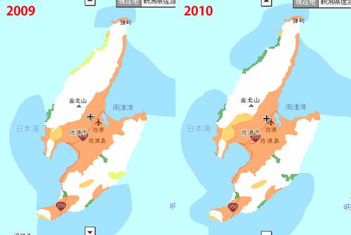 佐渡の携帯サービスエリア状況2010