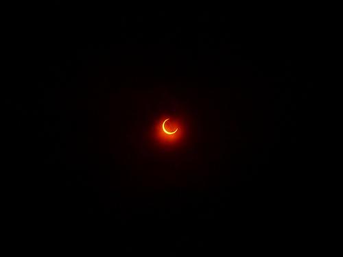 2012年の金環日食を武蔵小山で。