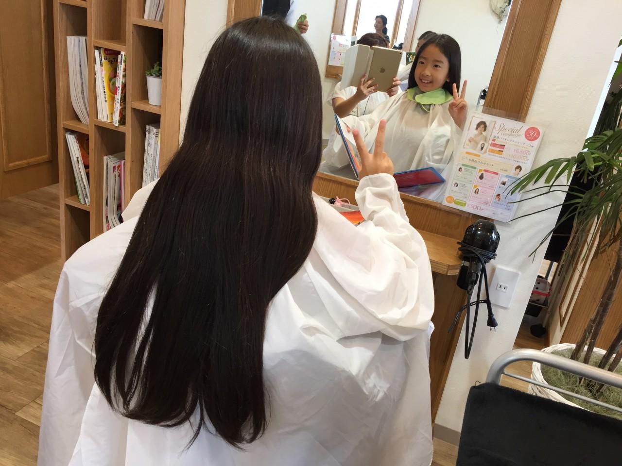 はじめてのヘアドネーション
