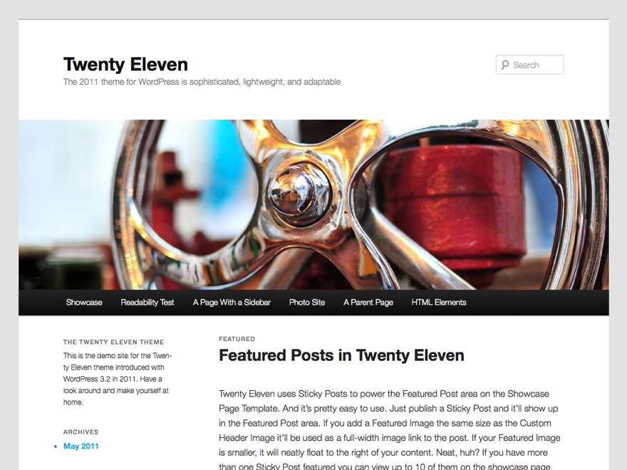 WordPressのテーマ「Twenty Eleven」のカスタマイズ