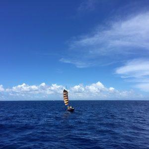 サバニ帆漕レースに参加した